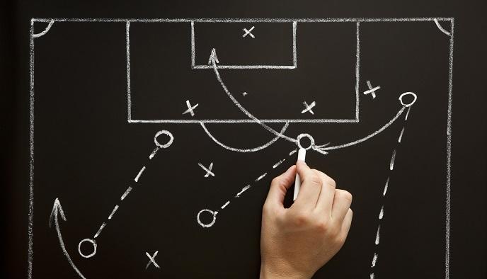 Resultado de imagen de pizarra entrenador futbol