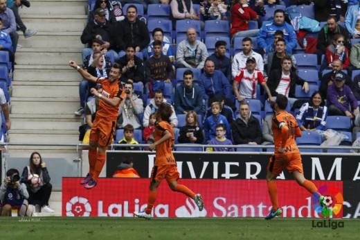 Celebración del gol de Sergi Enrich (Foto: laliga.es)