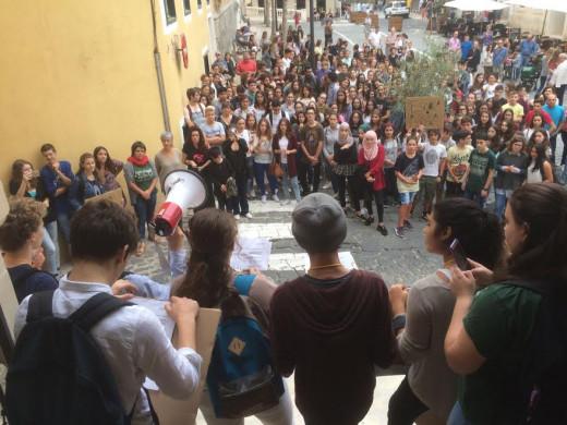 Imagen de la concentración en Maó (Fotos: Tolo Mercadal)