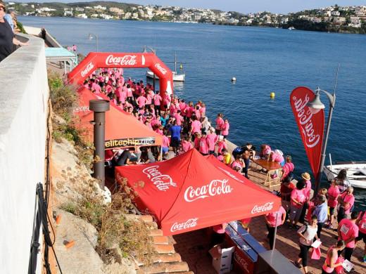 (Fotos) Es Castell marcha contra el cáncer