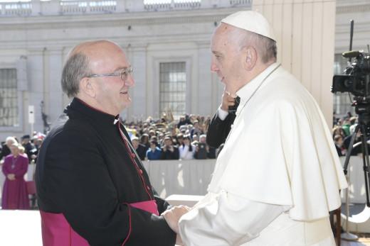 Con el Papa.