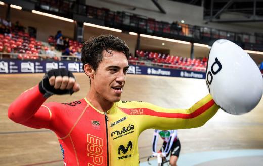 Torres, tras lograr el oro en Glasgow.