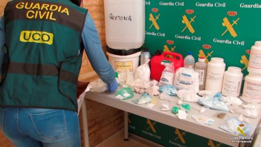 Parte del material decomisado en la operación antidroga (Foto: Guardia Civil)
