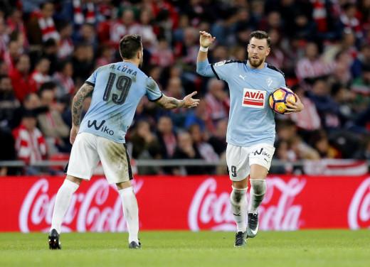 Sergi Enrich celebra el gol con Antonio Luna (Foto: laliga.es)