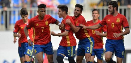 Celebración de un gol de la selección sub 17.