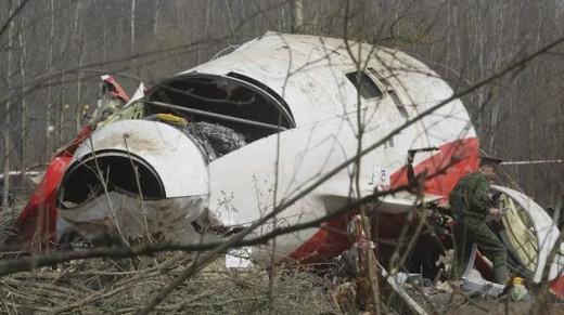 Parte del fuselaje del avión siniestrado.
