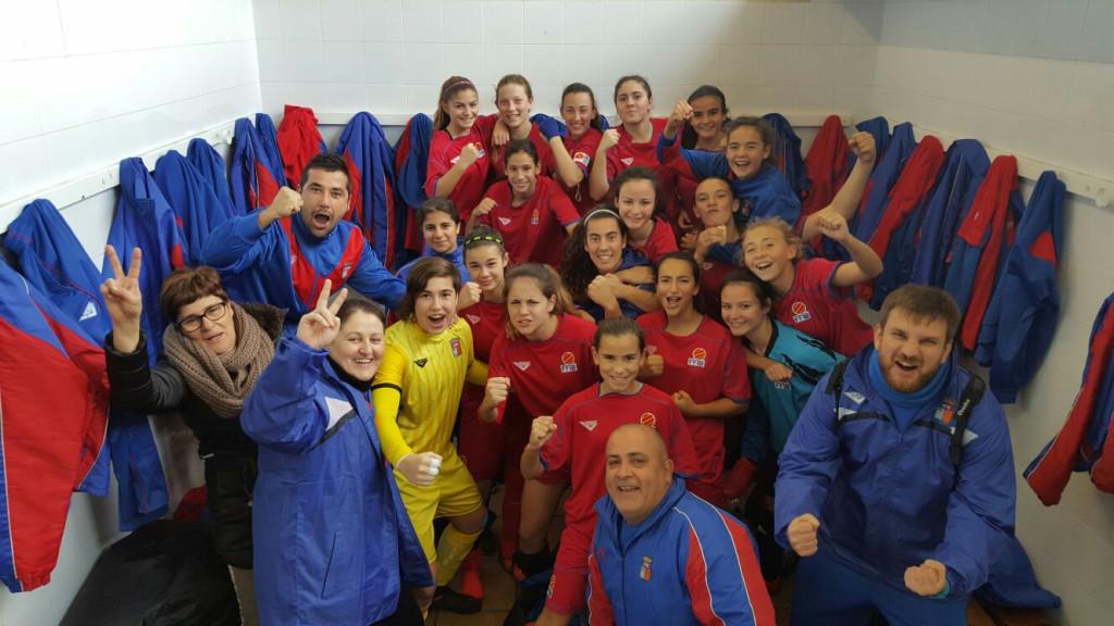 Foto de la celebración del combinado sub 16 ante Galicia (Foto: futbolbalear.es)