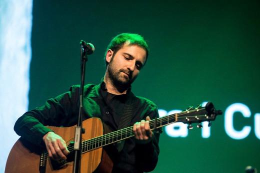 Guiem Soldevila, durante una actuación.