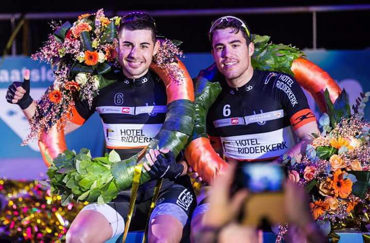 Mora y Torres, tras lograr el triunfo el año pasado en Rotterdam.