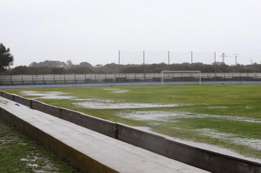 Así estaba el campo del Sporting de Mahón (Foto: Tolo Mercadal)
