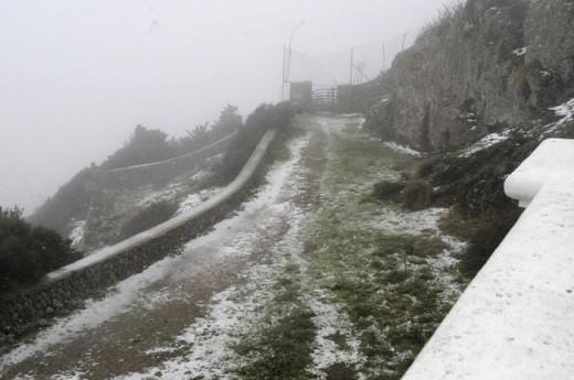 Imagen de la última nevada en Monte Toro (Foto: Tolo Mercadal)