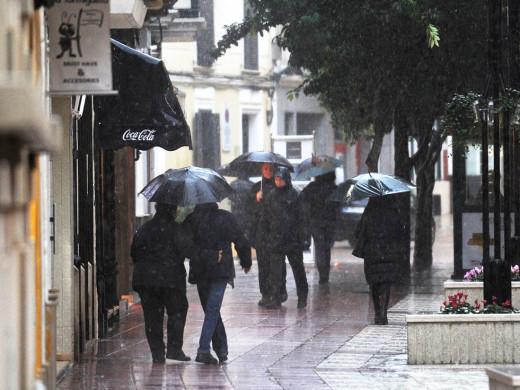 (Fotos) Temporal de lluvia: 40 litros por metro cuadrado de media en la Isla (14.00 )