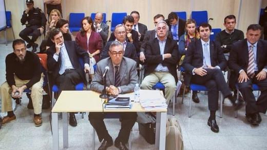 El empresario menorquín Diego Torres, exsocio de Urdangarín, declarando en el juicio.