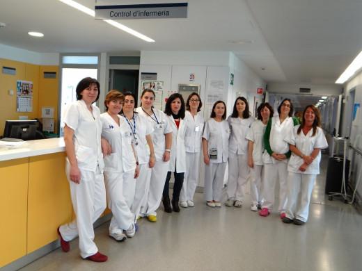 Personal del hospital Mateu Orfila en una imagen de archivo.