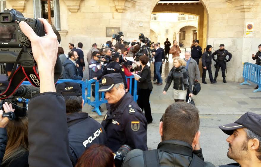 Gran expectación en la Audiencia Provincial de Palma.