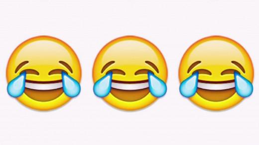 Símbolo de la risa con lágrimas en los ojos.
