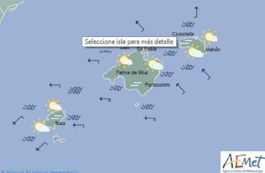La predicción habla de posibles lluvias acompañadas de barro.