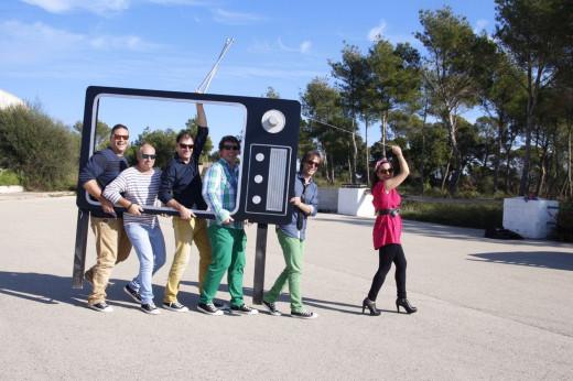 Imagen promocional de la banda Jukebox Band Menorca.
