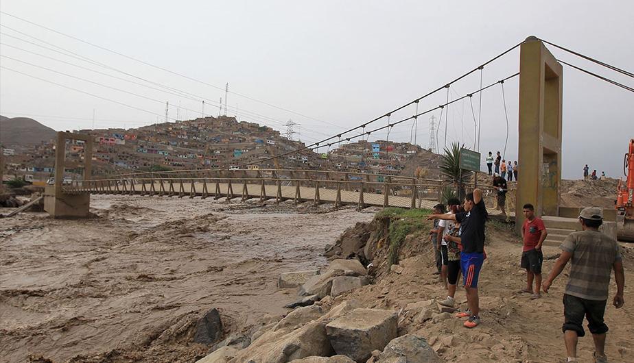 Las lluvias están provocando graves problemas en Perú