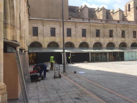 (Fotos) Maó inicia la rehabilitación del Claustre del Carme
