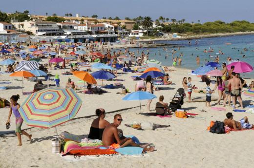 Imagen de la playa de Punta Prima en verano.
