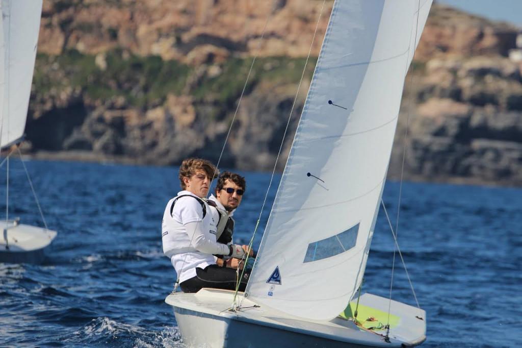 Jordi Triay y Lluís Mas, en un momento de la regata.