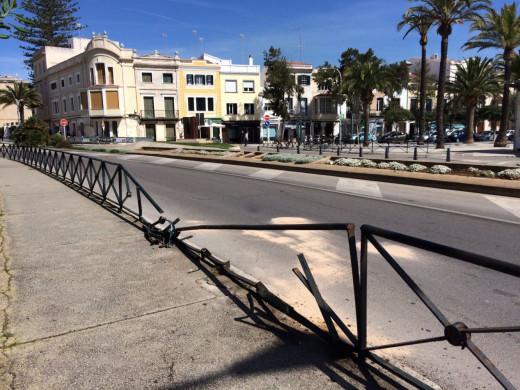 (Fotos) Doble accidente en sa Rovellada de Dalt en Maó