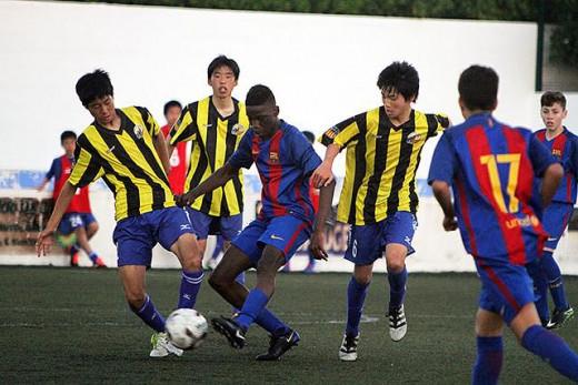 Imagen del Barça-Tokushima de U15 (Foto: deportesmenorca.com)