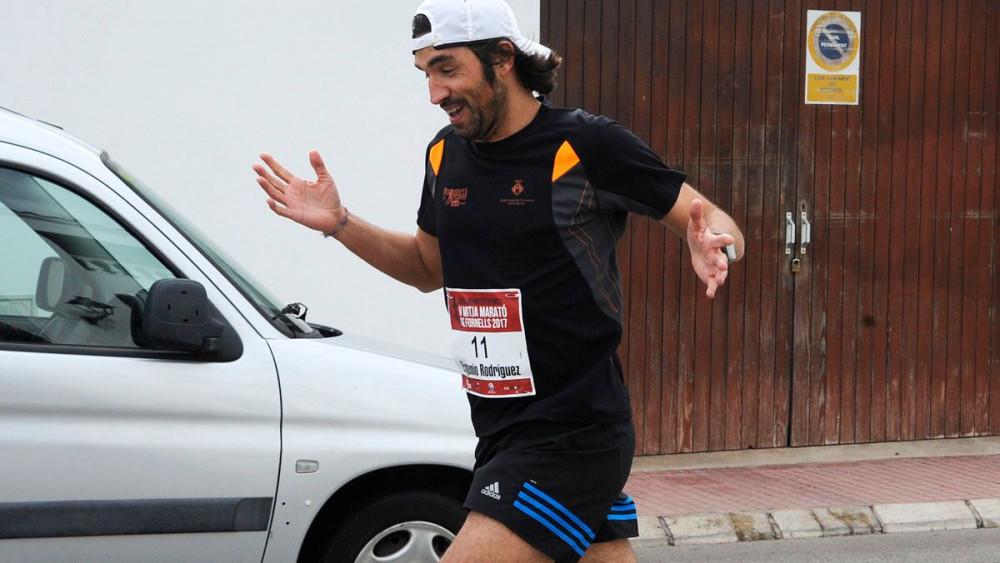 Eugenio Rodríguez, en pleno esfuerzo.