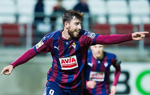 Sergi Enrich, celebrando un gol con el Eibar (Foto: laliga.es)