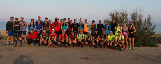 Foto de familia de los participantes en el entrenamiento (Foto: Trail Menorca)