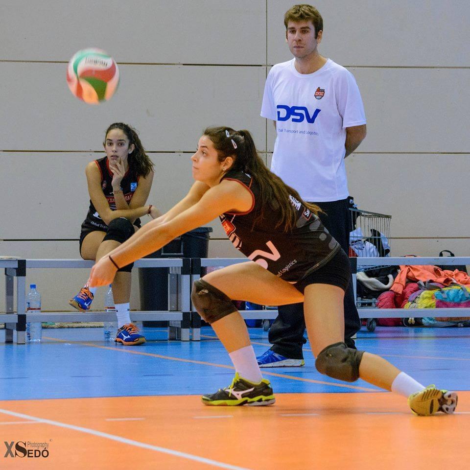 Alba Cardona, durante un partido.