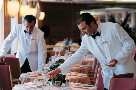 Camareros en un restaurante.