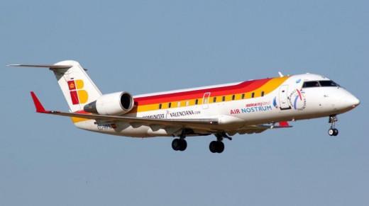 Imagen de un avión de Air Nostrum.