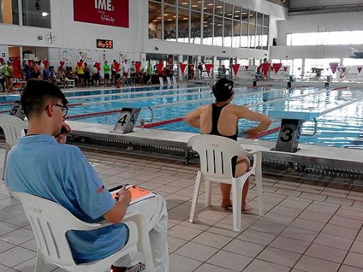 (Galería de fotos) Caterin Mercadal se cuelga el oro en la piscina de Son Moix