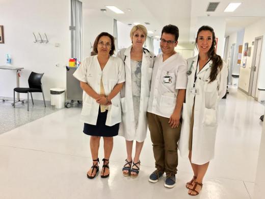 Fotografía de los cuatro especialistas.