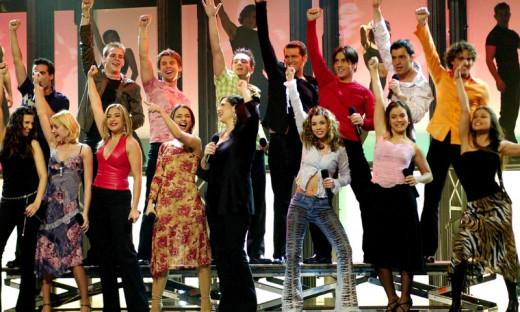Imagen del reencuentro de OT con artistas que pasaron por el programa.