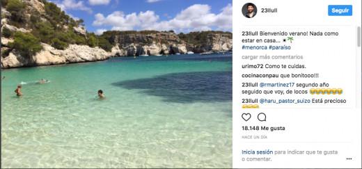 Publicación de Sergio Llull en Instagram