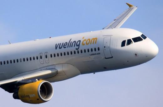 Avión de la aerolínea de bajo coste Vueling