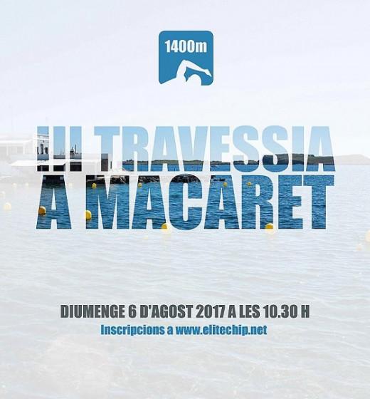 Cartel de la III Travessía a Macaret