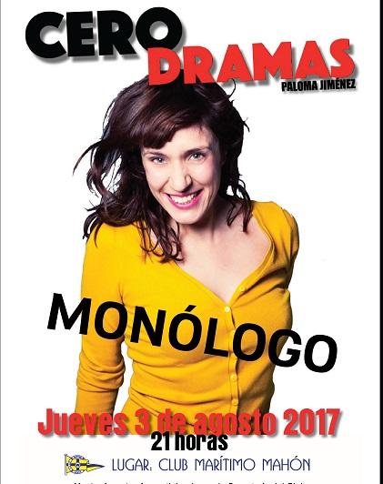 Cartel que anuncia la actuación de Paloma Jimenez