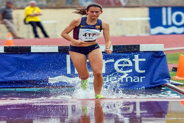 Marina Bagur, en plena carrera.