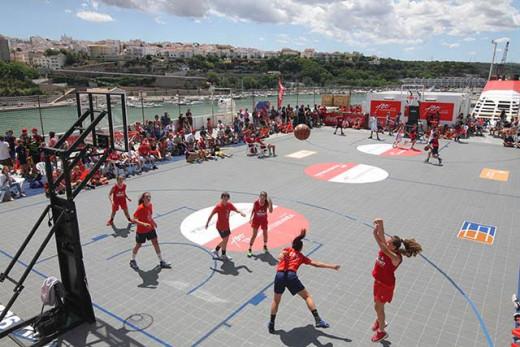 Momento de uno de los partidos (Foto: deportesmenorca.com)