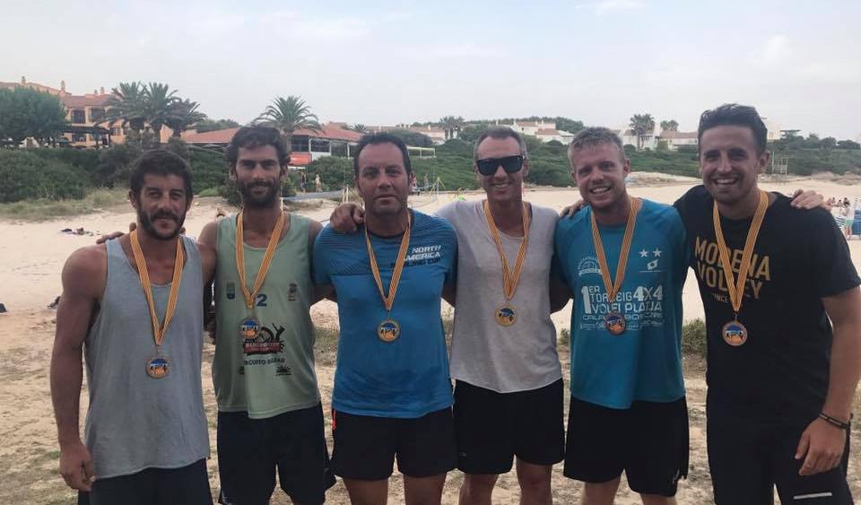 Podio de ganadores en categoría masculina (Fotos: CV Ciutadella)