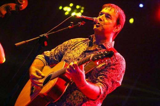 Cris Juanico, durante un concierto.