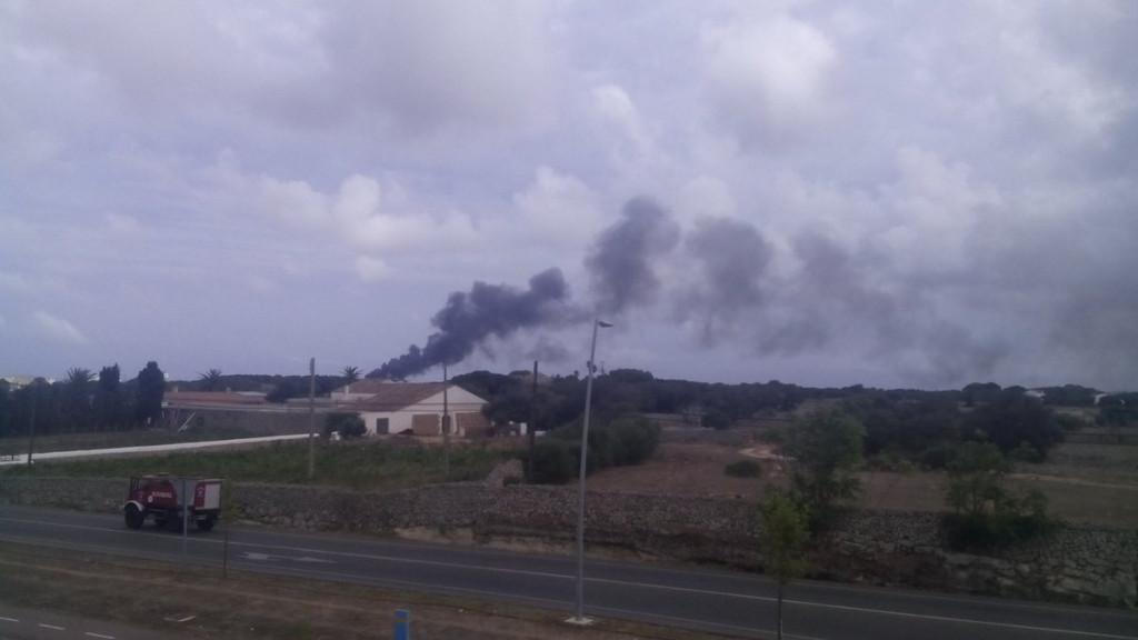 Vista del incendio.