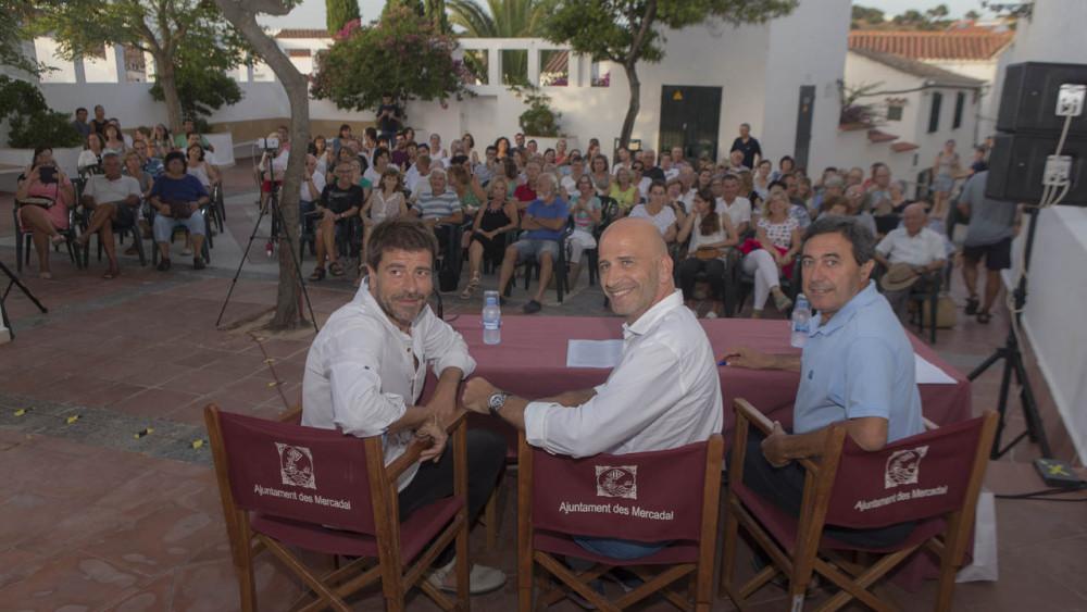 Espartac Peran, Xavi Coral y Xiscu Ametller, en el acto (Fotos: Karlos Hurtado)
