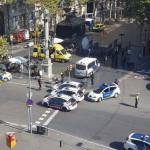 Imagen de la zona colindante a Plaza Catalunya durante la tarde del jueves