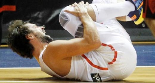 Llull, en el momento de la lesión.