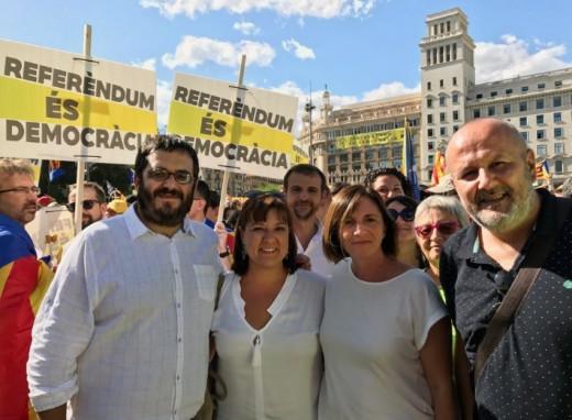 Apoyo a Catalunya.
